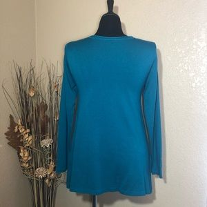 Hannah Tops - Teal Knit Top